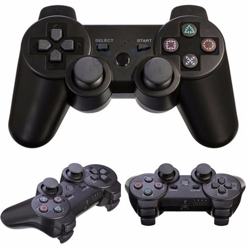 mini consola videojuegos retro 2 controles ps3 inalámbricos