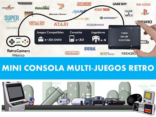 mini consola videojuegos retro snes super nintendo sega ps1