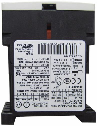 mini contactor 12a b110vcc 5,5kw 7,5cv siemens 3rt1017-1bf41