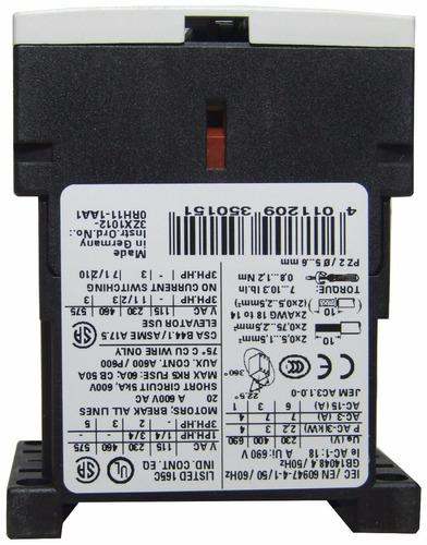 mini contactor 7 a bobina 400v 3kw 4cv siemens 3rt1015-1av01