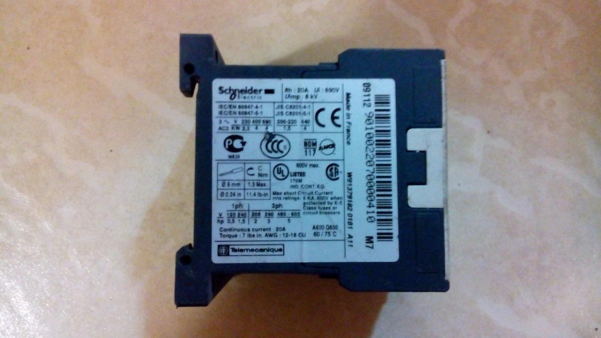 Mini Contator De Potência Telemecanique 220v Lc1k09 01 (9a) - R$ 16 ...