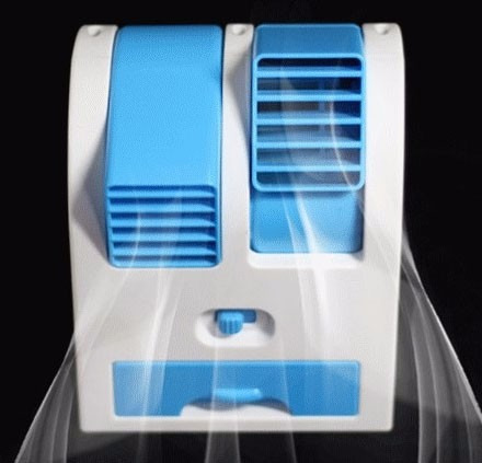 Mini Cooler Ventilador Portatil Aire Frio Brisa Aromatica