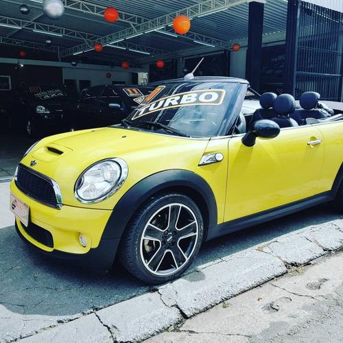mini cooper cabrio turbo s amarelo novo top oferta financioi