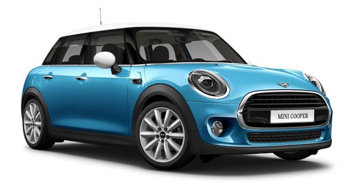 mini cooper pepper wired 5ptas c/gps electric blue / blanco