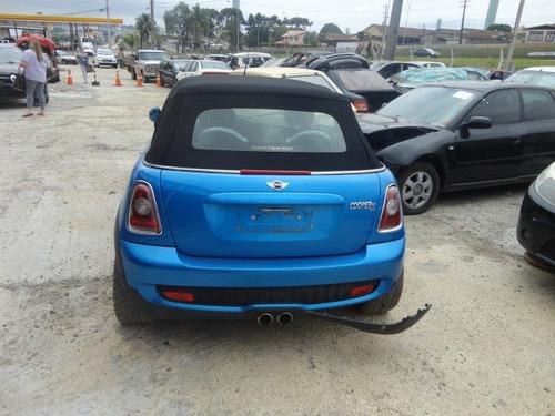 mini cooper s cabrio 2011 sucata para retirada de peças
