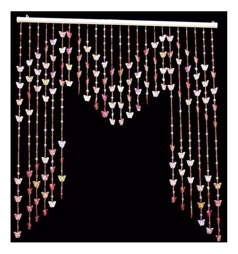 mini cortina de miçanga borboleta decorativa + brinde
