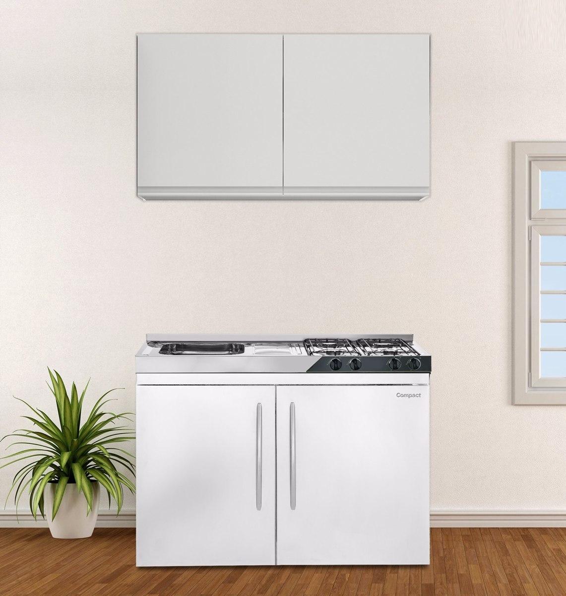 Mini Cozinha Compact 4x1 Pia fogão geladeira armário R$ 3.499 00  #4D5B1E 1141 1200