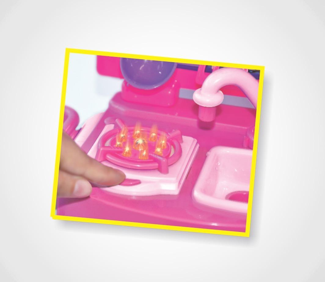 Mini Cozinha Infantil Fashion Barbie Completa Frete Gr Tis R