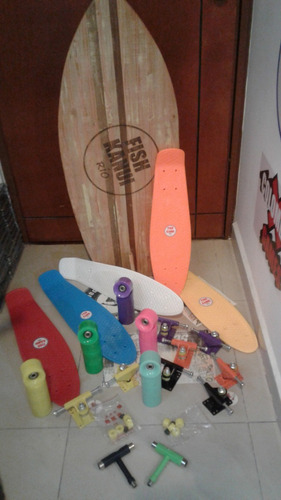 mini cruiser repuestos deck + llantas+ truck+ tool + bushing