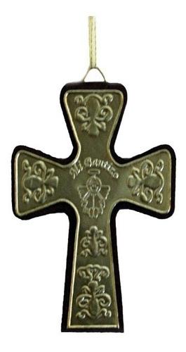 mini-cruz de recuerdo en repujado
