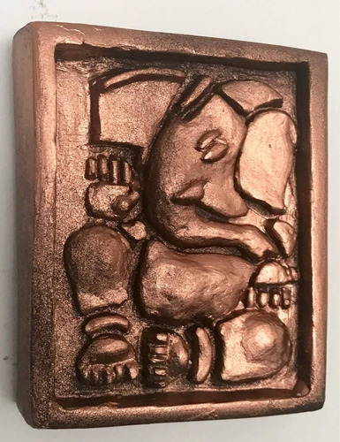 mini cuadro de ganesha artesanal.