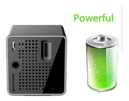 mini cubo proyector portatil, bateria wifi rgb led full hd