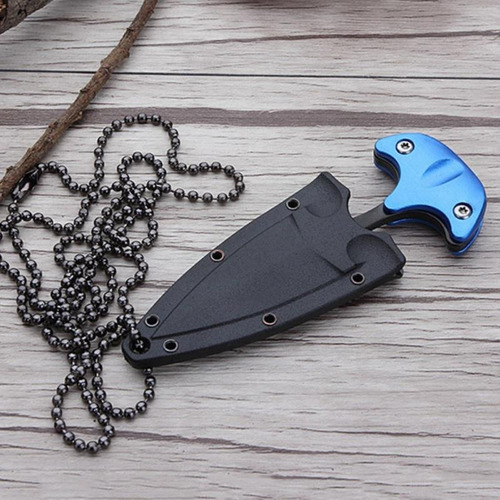 mini cuchillo navaja collar táctico militar defensa personal