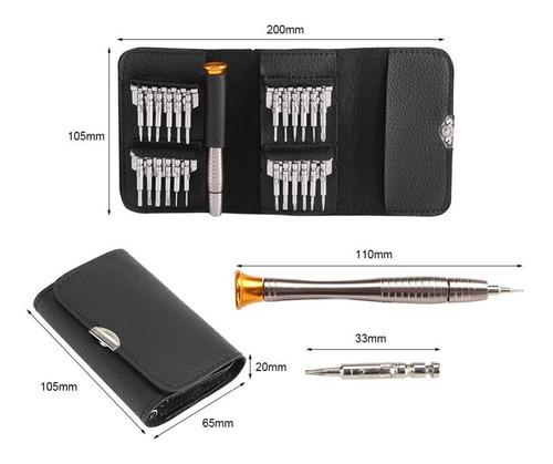 mini desarmadores joyero electrónica relojería tipo cartera