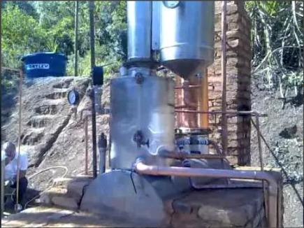 mini destilaria etanol faça 100 litros ao dia + brindes