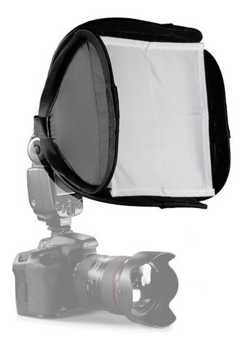 mini difusor de flash speedlight softbox dobrável 23x23cm