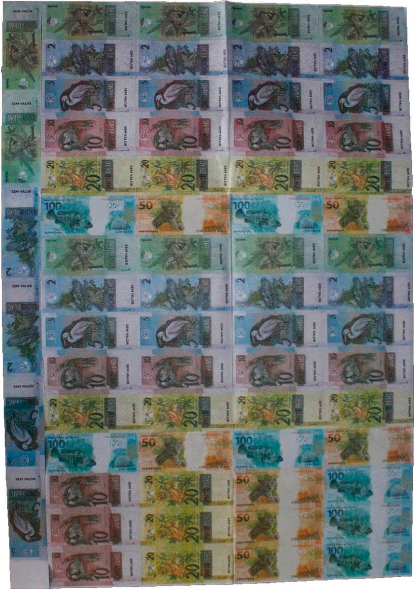 Mini Dinheiro De Brinquedo Dinheirinho Emb Com 66 Notas R 2