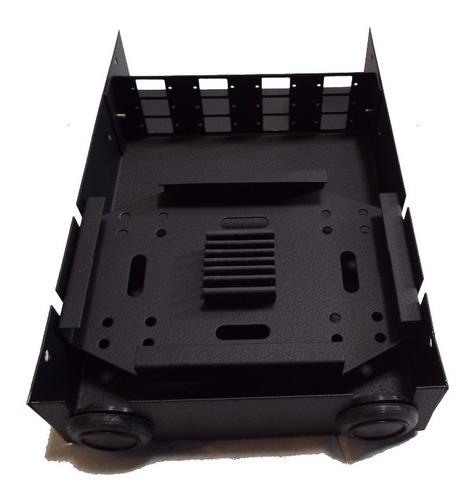 mini dio em aço com painel sc 12 fibras ópticas pr.10 peças