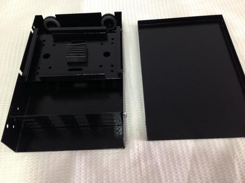 mini dio em aço com painel sc 12 fibras ópticas preto