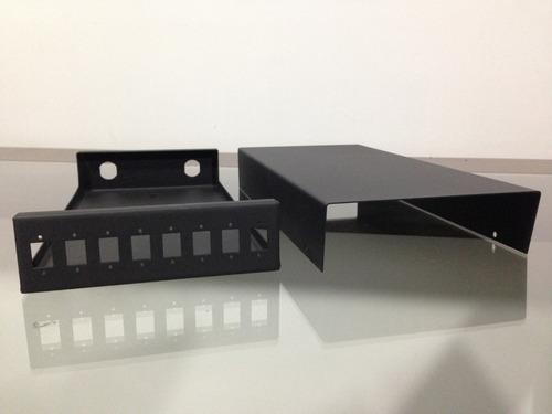 mini dio óptico até 08 fibra sc/lc em aço preto fosco