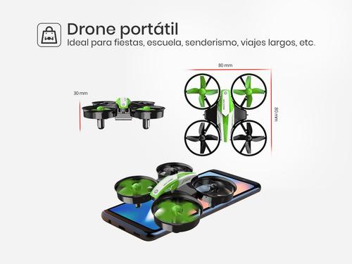 mini dron cuadricóptero control remoto hs210 con 3 baterías