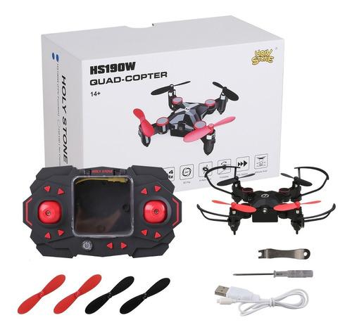 mini dron hs190 plegable con iluminación led 3 velocidades