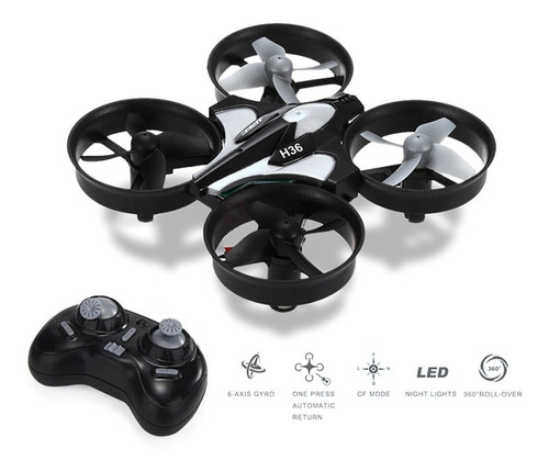 mini drone jjrc h36 vuelta a casa control remoto 2 baterias!