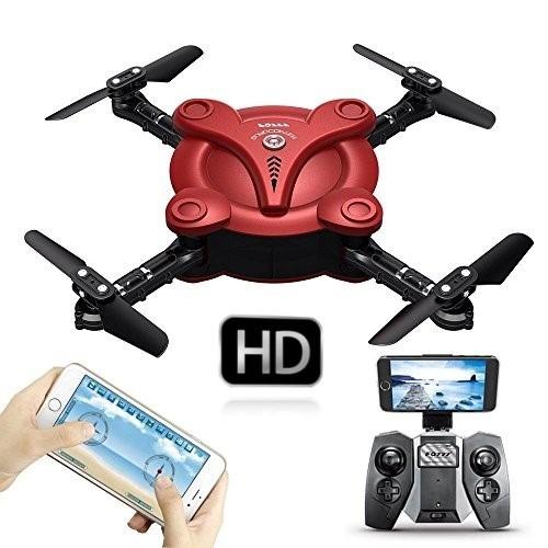 mini drone plegable wifi camara filma hd rc + bateria extra!