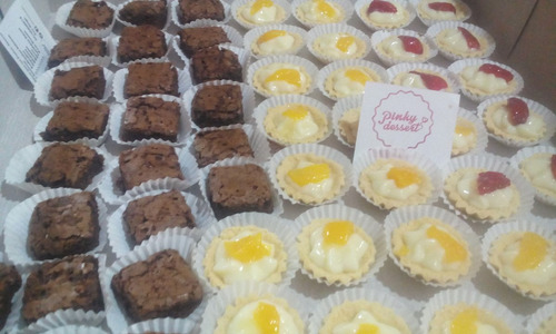mini dulces, tortas, tartaletas, brownie, fiestas cumpleaños