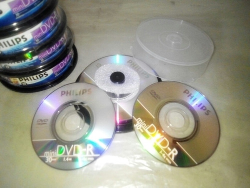 mini dvd phillips paquete de 10 unidades 30 minutos 1,4 gb