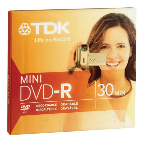 mini dvd -r sony o tdk handycam 30 min 1.4gb - factura a / b
