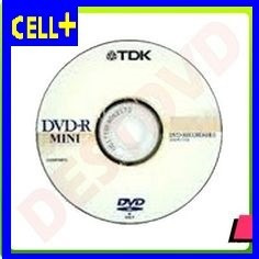 mini dvd-r tdk 1.4gb 30 minutos lp para cámaras