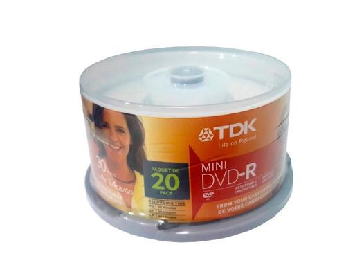 mini dvd-r virgen tdk bulk x20 u filmadora / gamecube c/xeno