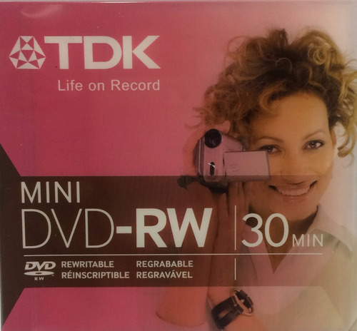 mini dvd rw recargable tdk