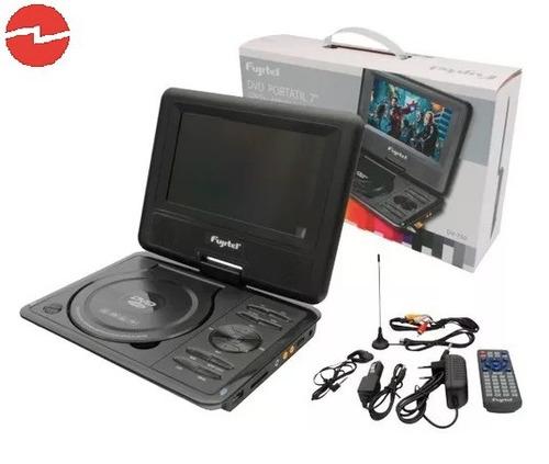 mini dvd + tv portátil 7 tv color, usb, sd, 220v/12v