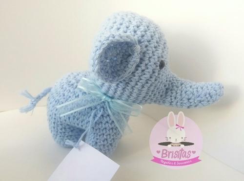 mini elefantitos crochet para  souvenirs
