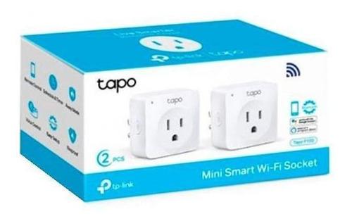 mini enchufe inteligente wi-fi tp-link tapo p100 2pack