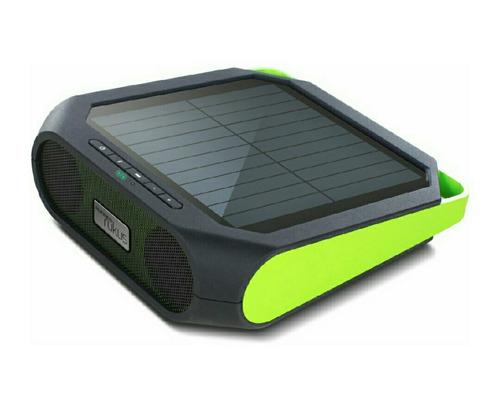 mini equipo bluetooth bateria solar contra agua marca eaton