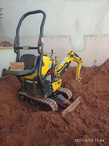mini escavadeira buraco de piscina , escavação diversas