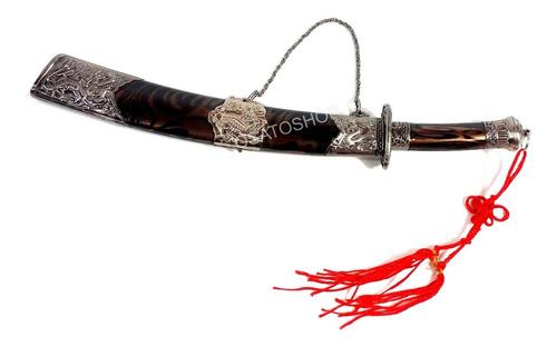 mini espada samurai katana + suporte ideal para decoração