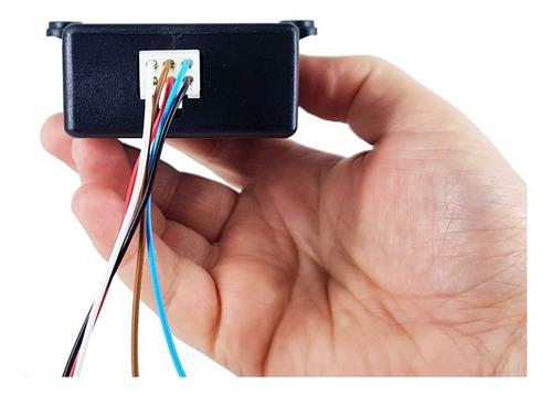mini estrobo com 4 placas de leds 12v e 6 efeitos de luz