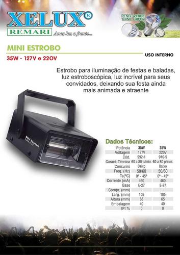 mini estrobo xenon de 35w em 220v xelux