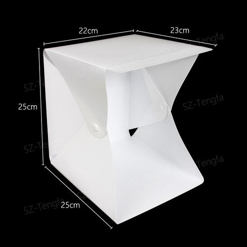 mini estúdio fotográfico iluminação