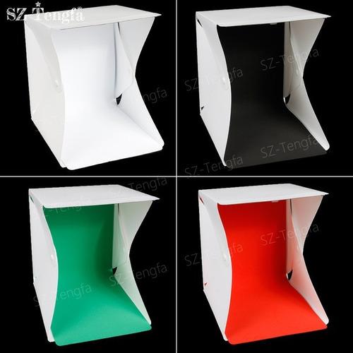 mini estúdio fotográfico portátil com iluminação led