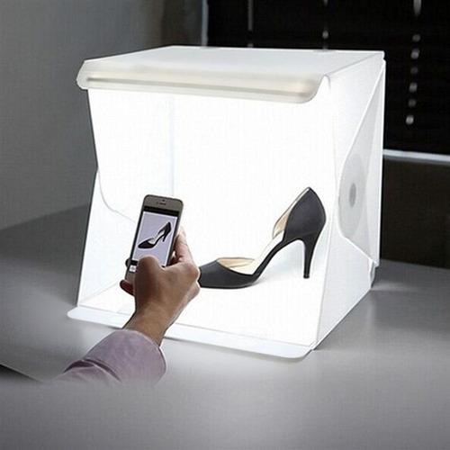 mini estudio fotografico portatil fundos luz led portatil
