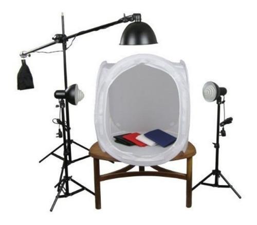 mini estudio tenda difusora 80x80 3  45w girafa pk-st10 220v