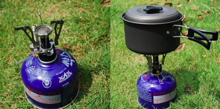 Mini estufa de camping para gas butano peque a abatible - Estufa camping gas ...