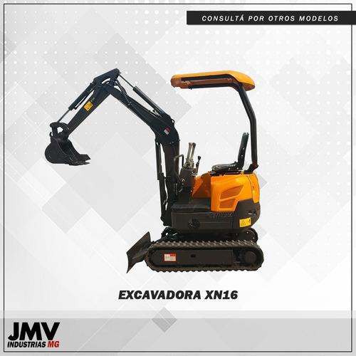 mini excavadora jmv xn16 mecanica japonesa. orugas de goma