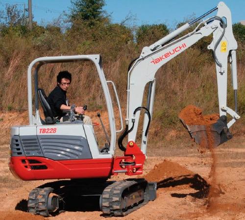mini excavadora sin cabina