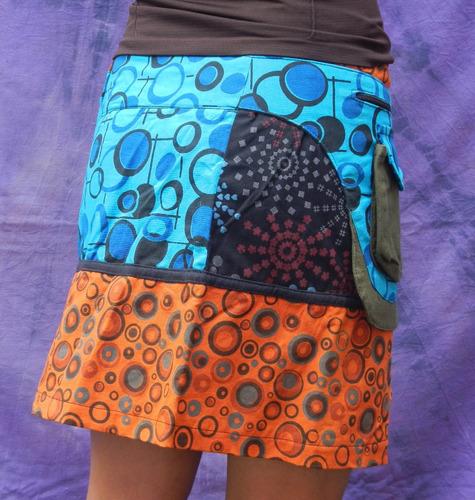 mini falda bolsas